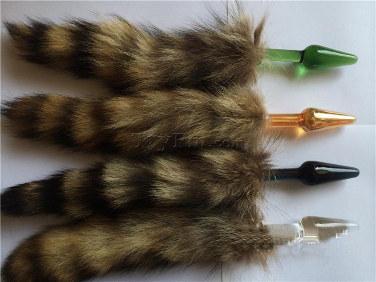 FOX TAIL SMALL GLASS BUTT PLUG only $12.00