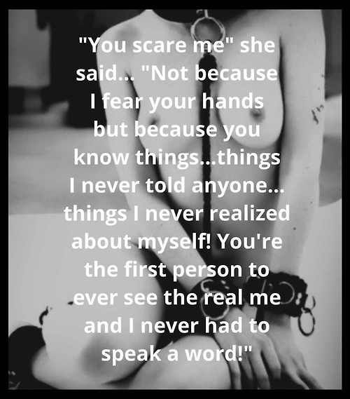 You scare me